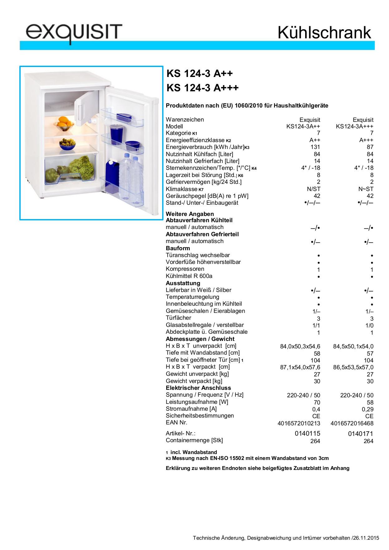 exquisit ks 124 3 k hlschrank mit gefrierfach eek a 84 14 liter neu ebay. Black Bedroom Furniture Sets. Home Design Ideas