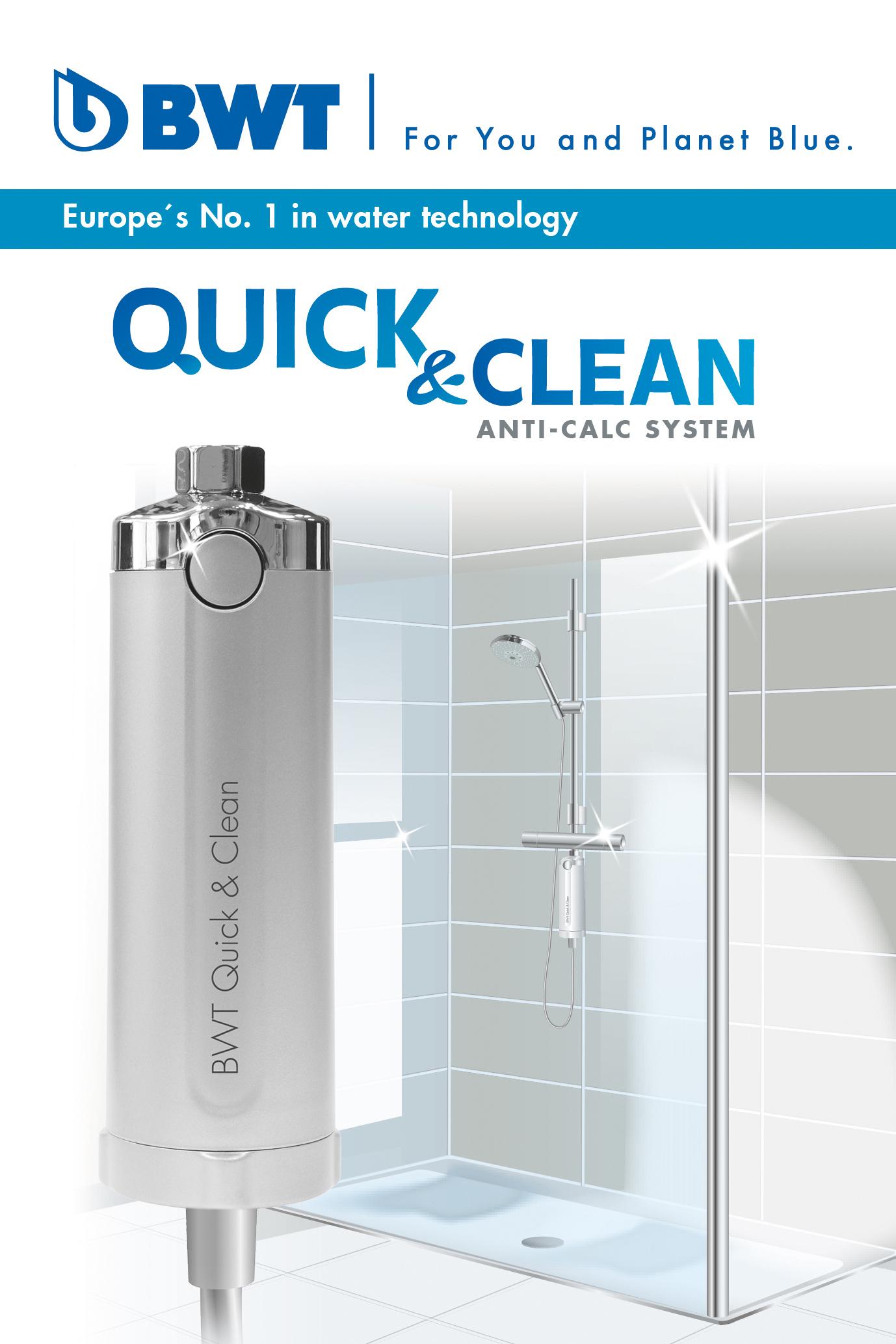 bwt quick clean antikalk filter strahlender glanz in dusche bad neu ebay. Black Bedroom Furniture Sets. Home Design Ideas